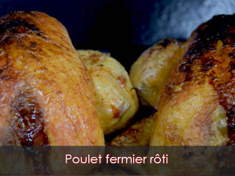 Poulet fermier rôti Boucherie-charcuterie-traiteur-Jeannot-Esteve-Argelès-Argeles-sur-mer